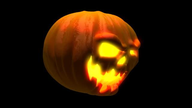 Close-up Halloween pumpkin video