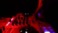 close-up hands of dj video