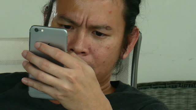 closeup Man hands use laptop computer video