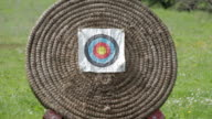 Close-up of a archery target video