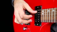 Closeup of a Hand Playing Guitar video