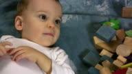 Close-up of a little boy video