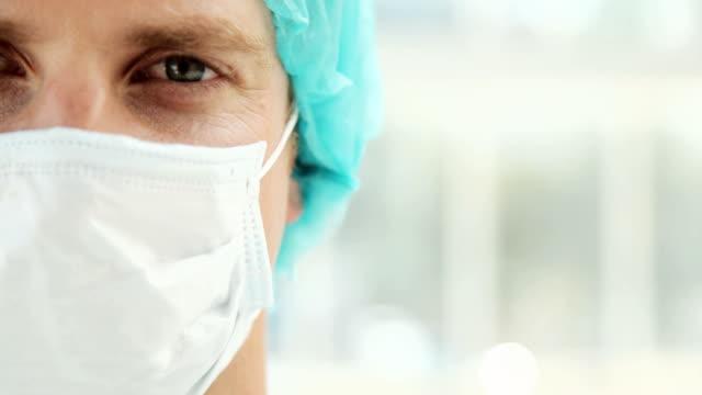 Closeup of a Male Surgeon in Scrubs video