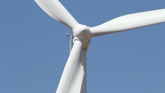 Closeup Of A Wind Turbine video
