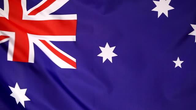 Closeup of an Australian flag video