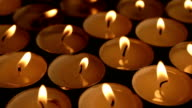 Closeup of candle lights video