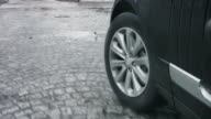 Close-Up Of Car Wheel Against Roud video