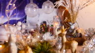 Close-up of christmas crib. video
