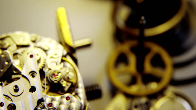 Close-up of clock parts video