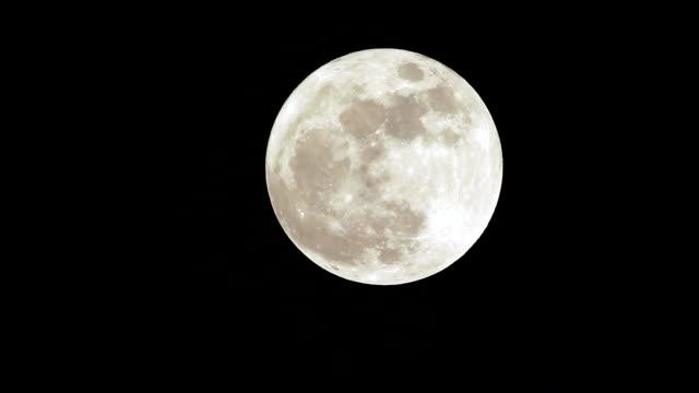Closeup of full moon video