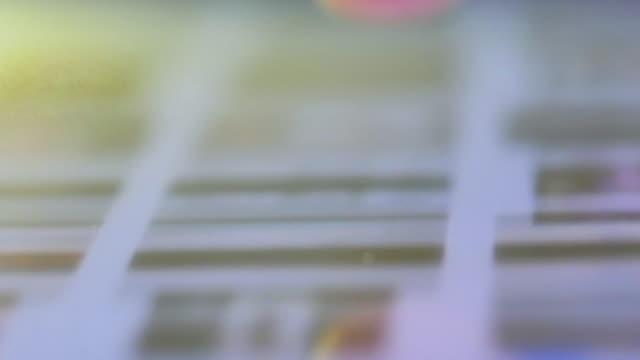 Close-up of Human finger using digital tablet video