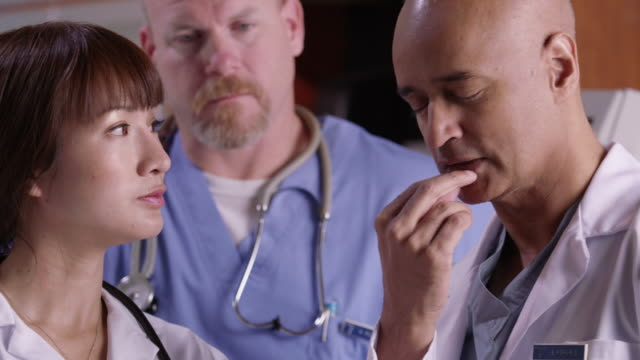 Closeup of medical professionals video
