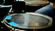 closeup of playing drums video