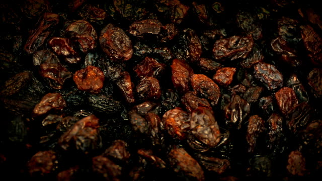 Closeup Of Raisins Rotating video