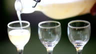 Close-up of schnapps Poured into a Shot Glass video
