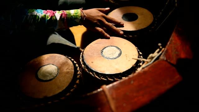 Closeup of Thai Musician playing Puang-Mang video