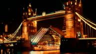 Close-up of Tower Bridge London Lift Opening video