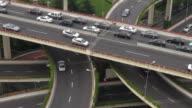 Close-up of traffic on Shanghai Highway Interchange, China video