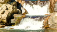 Close-up of Two-Tier Waterfall in the Blue Ridge Mountains video