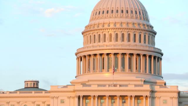 Closeup of United States Capitol building, Washington DC video