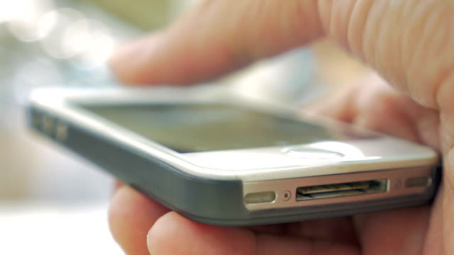 Close-up of using smart phone video
