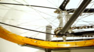 Close-up of vintage bicycle wheel video