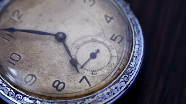 Closeup of vintage clock video