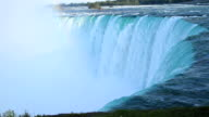 Close-up of water going over Niagara Falls video