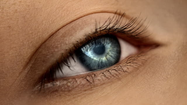 Close-up of woman's eye video