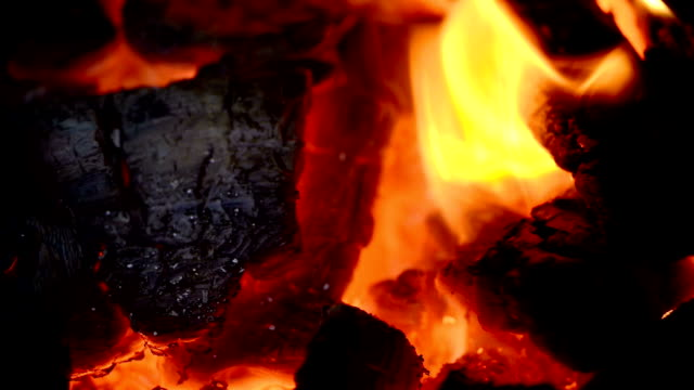 Close-up on embers video