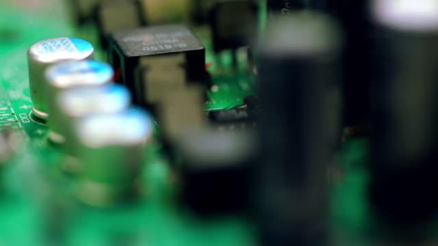 Closeup on technology video