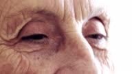 closeup portrait of a old woman's gaze video