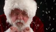 Closeup portrait of Santa Claus video