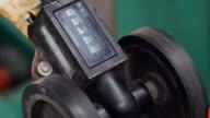 Close-UP Pressure Guage of Calendering Machine video