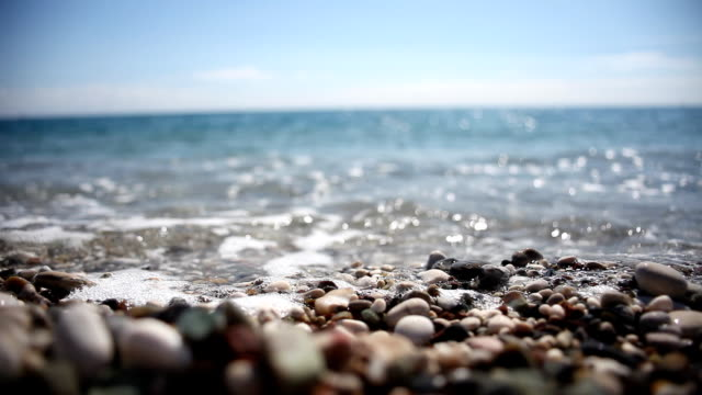Close-up Sea and Stones video