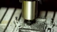 Close-up shot. Metal Lathe Cutting Aluminium video