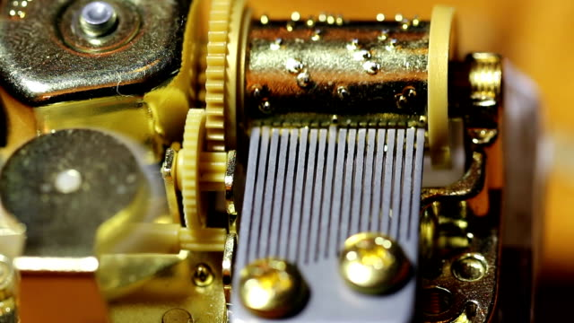 Closeup Shot Of Inner Workings Music Box video