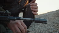 Close-up Shot of Reloading Assault Riffle video