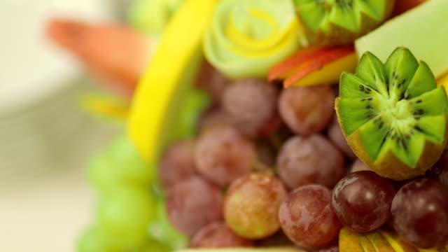 Closeup Shot Of Various Fresh Fruits video