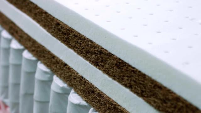 Closeup texture of memory foam for making mattresses video