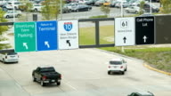Close-up Traffic Leaving New Orleans International Airport video