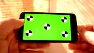 Close-up using smartphone Green screen video