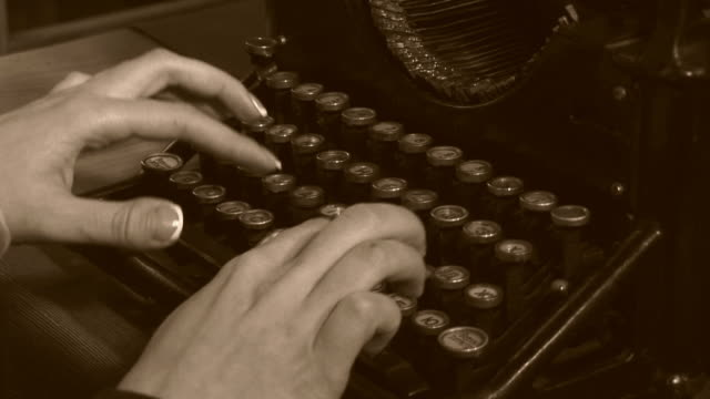 close-up -  very old typewriter video