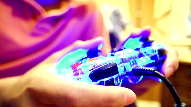 Close-up Video Game Controller Teenage Boy video