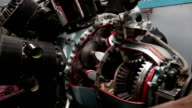 Close-up video of jet engine detail video