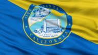 Closeup Waving National Flag of Santa Ana City, California video