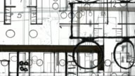ARCHITECTURE BUILDING PLAN : close-up, white background (LOOP) video