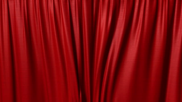 closing red curtain video