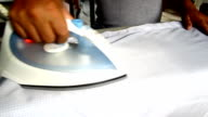 Clothes ironing video