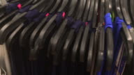 Clothing hanging on hangers at Shopping Mall video